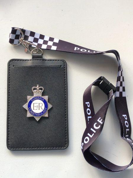 Cumbria Constabulary card holder & lanyard