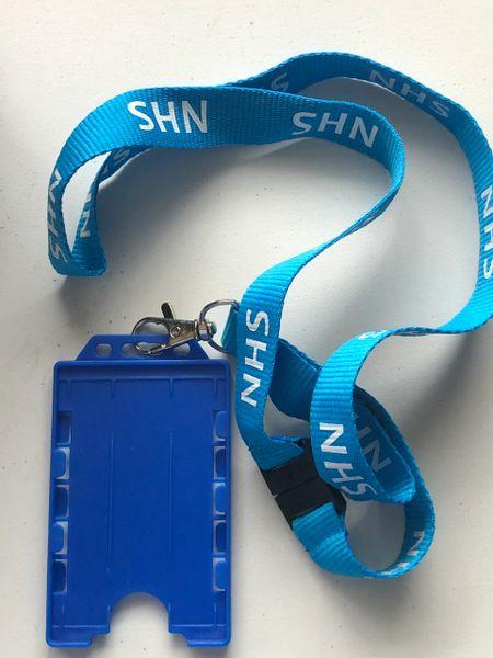 NHS printed Lanyard & double card holder.