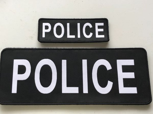 Police patch set (1 large and 1 small)