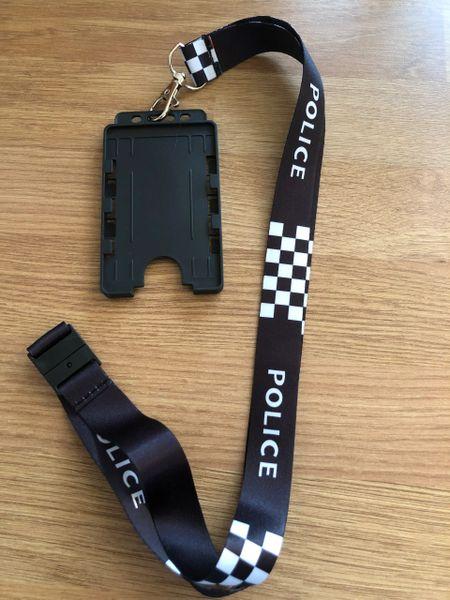 Police printed lanyard