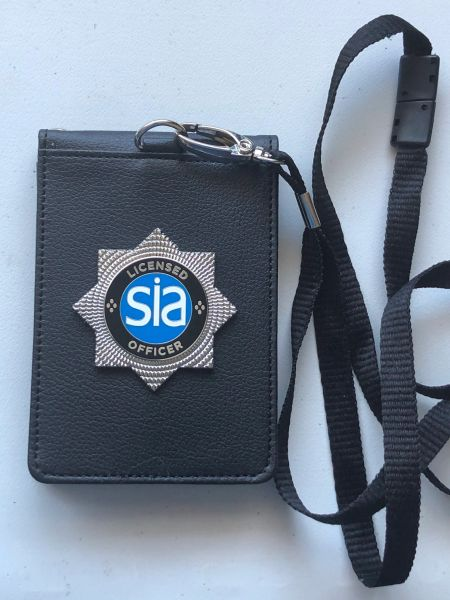 SIA licence / ID card holder and lanyard