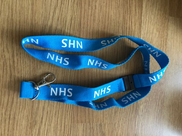 NHS lanyard blue