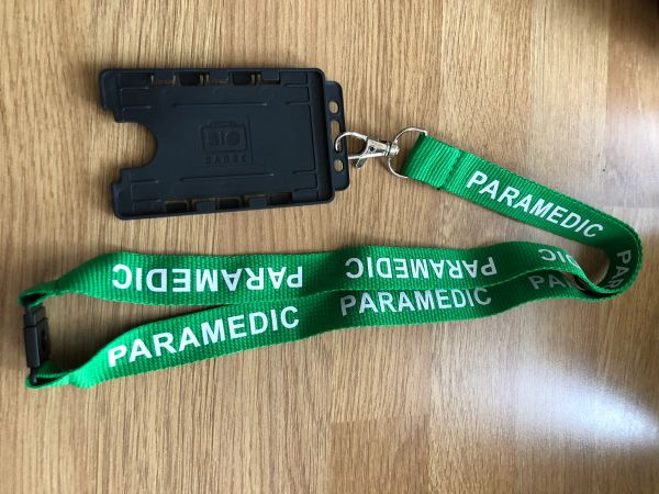 Paramedic lanyard and card holder