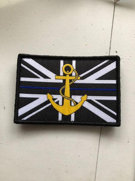 Police Marine Unit / Port Police Thin blue line badge