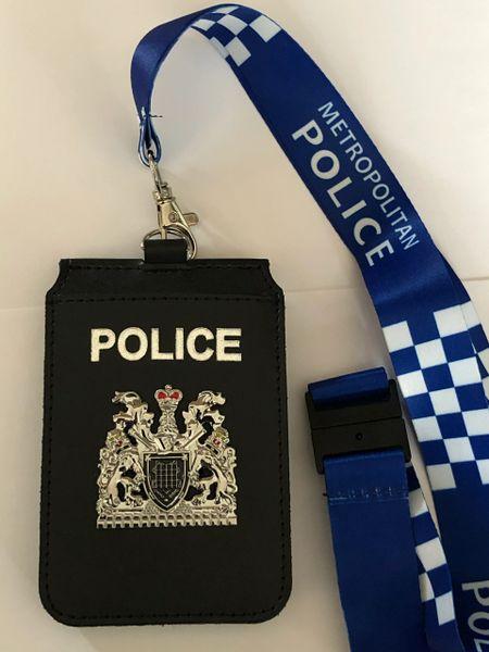 Metropolitan Police badged double card holder