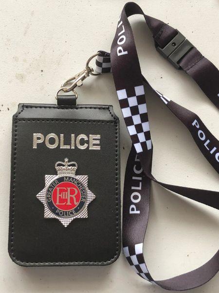 GMP badged Neck lanyard Warrant card holder