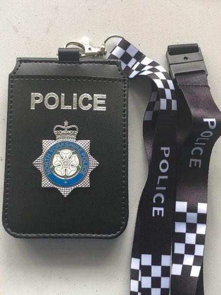 North Yorkshire Police neck holder & lanyard