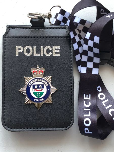 Leicestershire Police card holders & printed lanyard