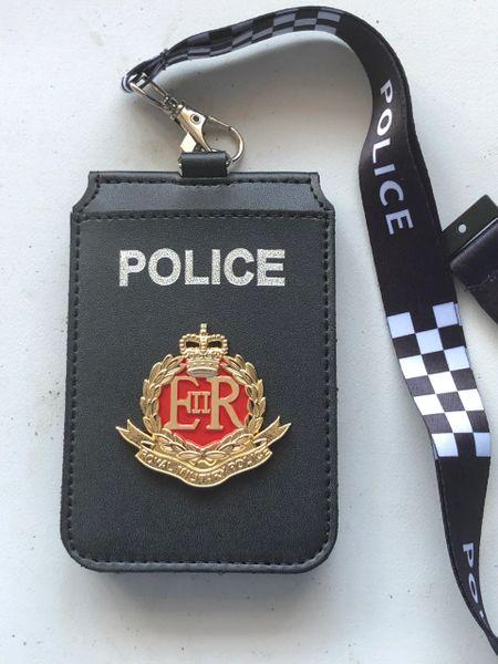 Royal military police badged card holder & lanyard