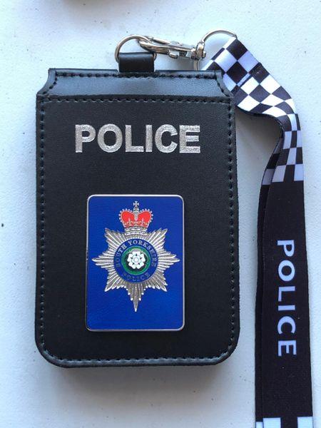 South Yorkshire Police badged Card holder & lanyard