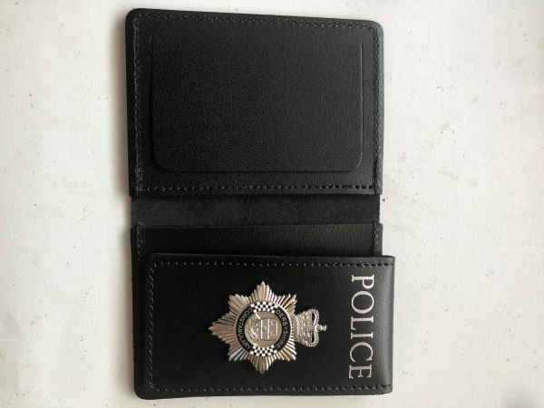Derbyshire Constabulary badged warrant card wallet