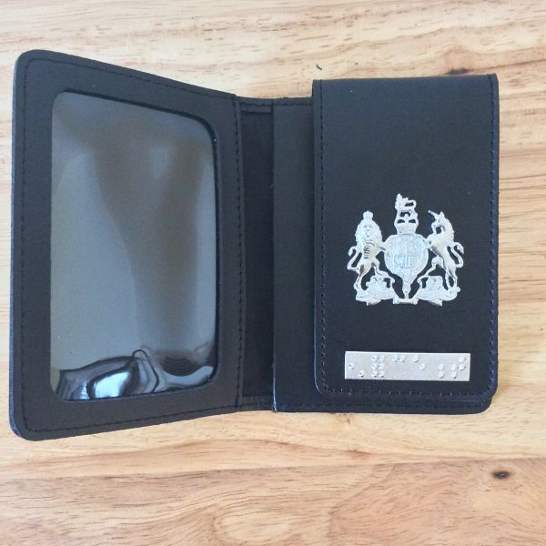 ID card wallet with HM crest and Enforcement braille bar