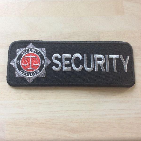 Security patch ( rectangular) iron on