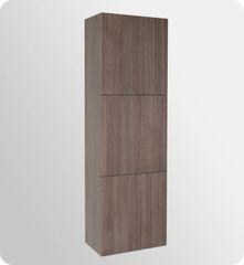 Bathroom Linen Side Cabinet w/ 3 Large Storage Areas GRAY OAK