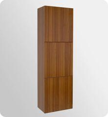 Bathroom Linen Side Cabinet w/ 3 Large Storage Areas TEAK