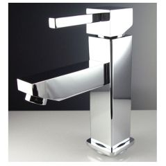 Bevera Single Hole Mount Bathroom Vanity Faucet - Chrome