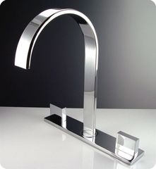 Sesia Widespread Mount Bathroom Vanity Faucet - Chrome