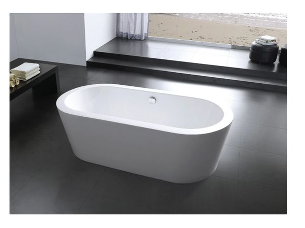 AQUAMOON PANDORA 66 MODERN SOAKING BATHTUB - WHITE