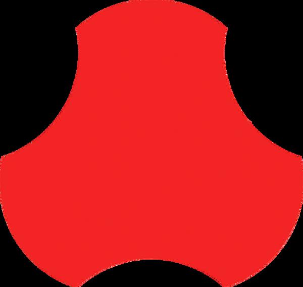 BOUQUET CERAMIC POP FLAT RED