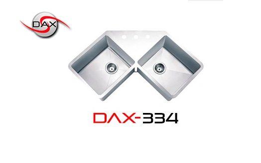 DAX334 Stainless Steel Corner Sink