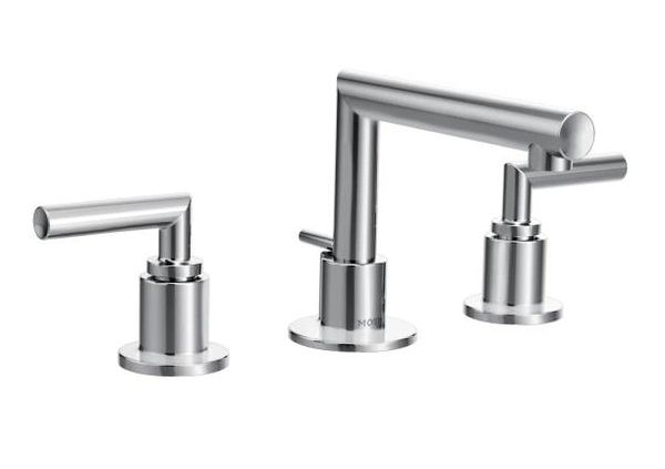 Arris Chrome Two-Handle Bathroom LAV. Faucet & Widespread Valve
