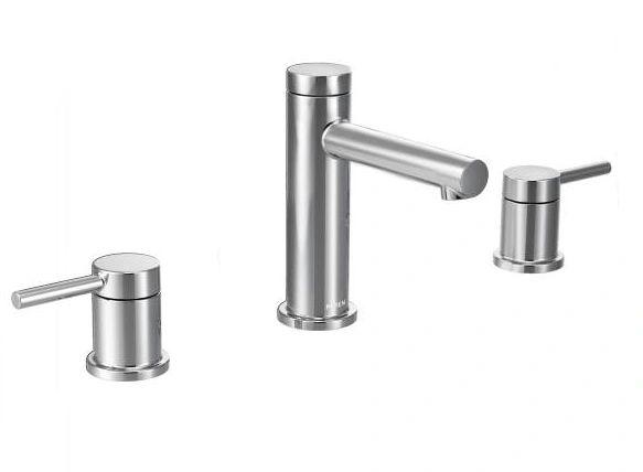 Align Chrome Two-Handle High Arc Bathroom LAV. Faucet