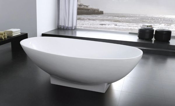 AQUAMOON LISBOA 70 MODERN SOAKING BATHTUB - WHITE