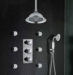 Thermostatic Ceiling Set. Modern/Retro Style