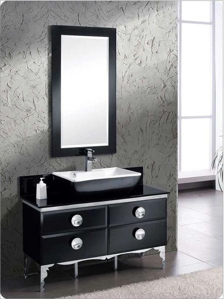 """Fresca Moselle 47"""" Modern Glass Bathroom Vanity w/ Mirror"""
