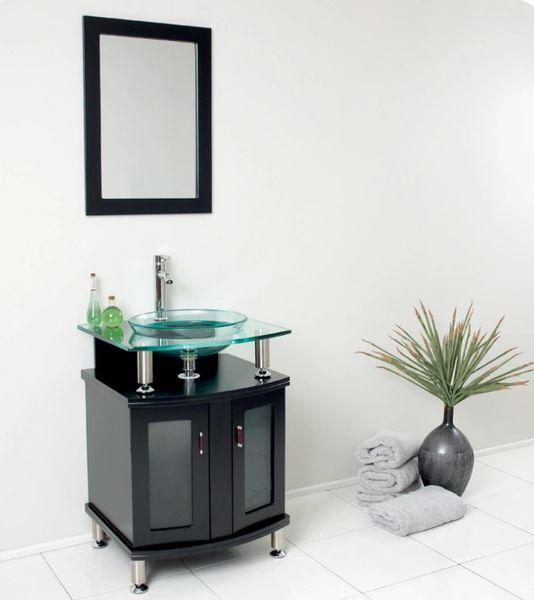 """Fresca Contento 24"""" Espresso Modern Bathroom Vanity w/ Mirror"""