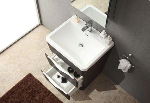 "Fresca Milano 26"" Chestnut Modern Bathroom Vanity w/ Medicine Cabinet"