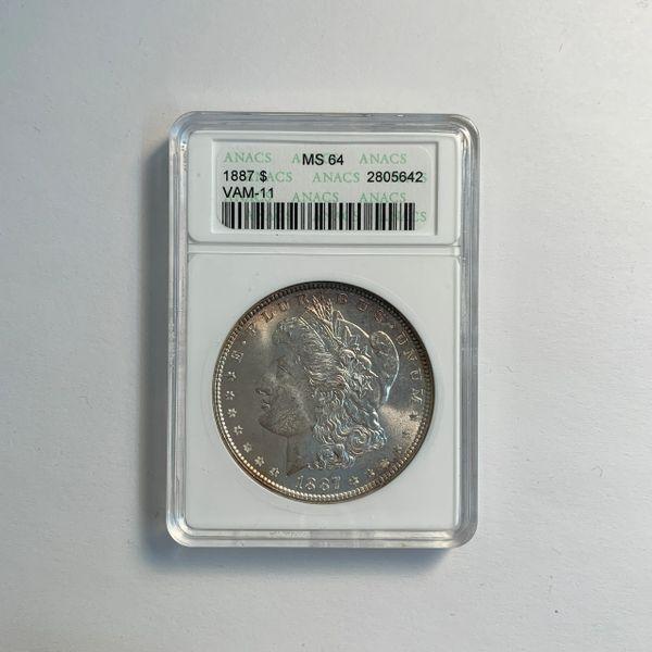 1887 Morgan Silver Dollar MS64