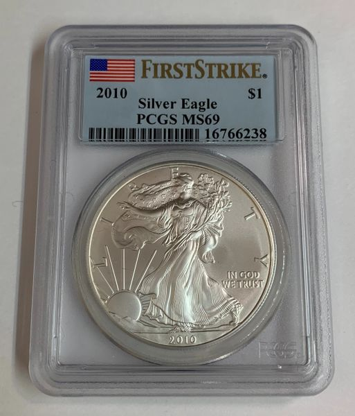 2010 MS69 First Strike Silver Eagle PCGS