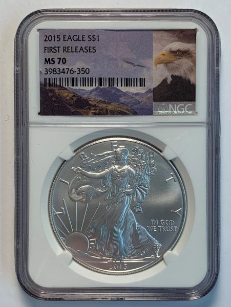 2015 First Release Silver Eagle MS70 NGC