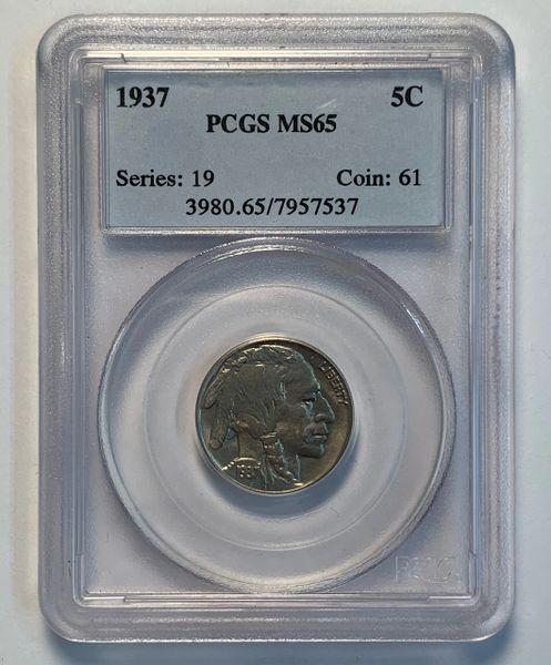 1937 MS65 Buffalo Nickle PCGS