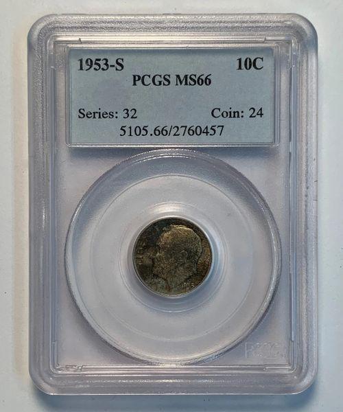 1953-S MS66 Roosevelt Dime PCGS