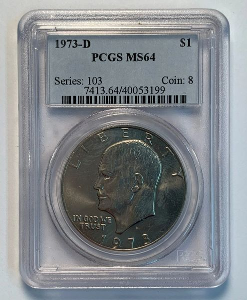 1973-D MS64 Ike Dollar PCGS