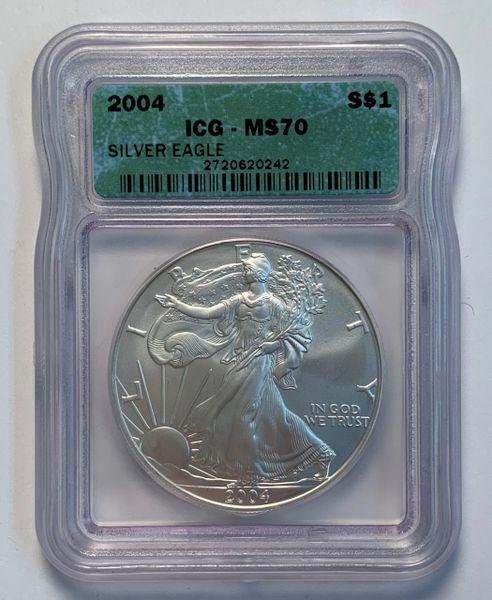 2004 MS70 Silver Eagle ICG