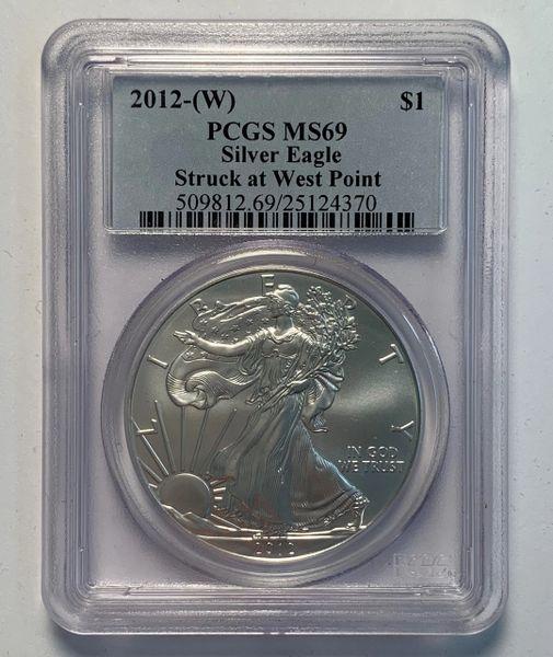 2012-W MS69 Silver Eagle PCGS