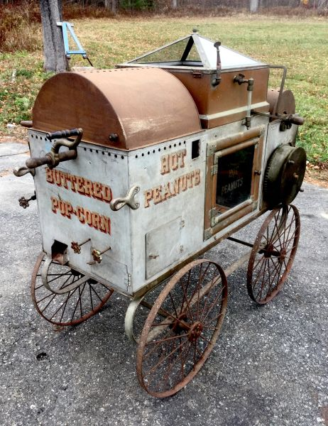 Rare Kingrey Spring Wind Popcorn Peanut Vendors Cart SOLD