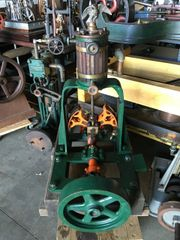 Rare 1885 Lombard Eliptical Crosshead Vertical Steam Engine