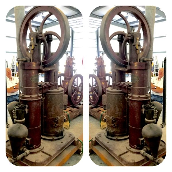"""Fine 6"""" Rider Sterling Cycle Hot Air Pumping Engine"""