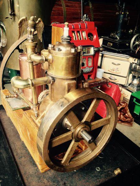 EAGLE ALL BRASS 1HP GASOLINE MARINE ENGINE (sold 1-16)