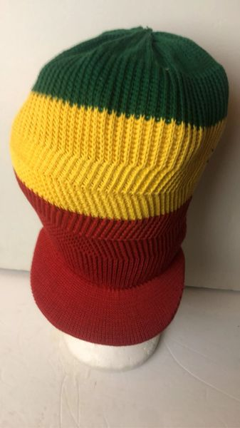Happy 2B Nappy Knitted Red Gold & Green Hat Or Crown