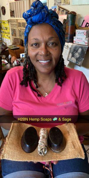 H2BN Organic Blueberry Strawberry Pineapple Mango Orange Hemp Soap with Real Bits of Cococnut