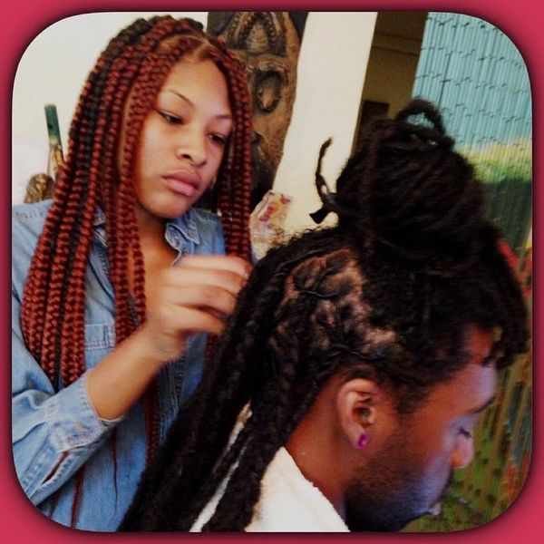 Hair Styles By H2BN Appointment Deposit For Adults Comb Kinky Twist Luv & Light Interloc'n Technique Palm Roll Locs & Kinky Twist & Straw Twist Organic Color