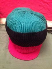 H2BN Red Black & Green Knitted Crown or Tam Now On Sale