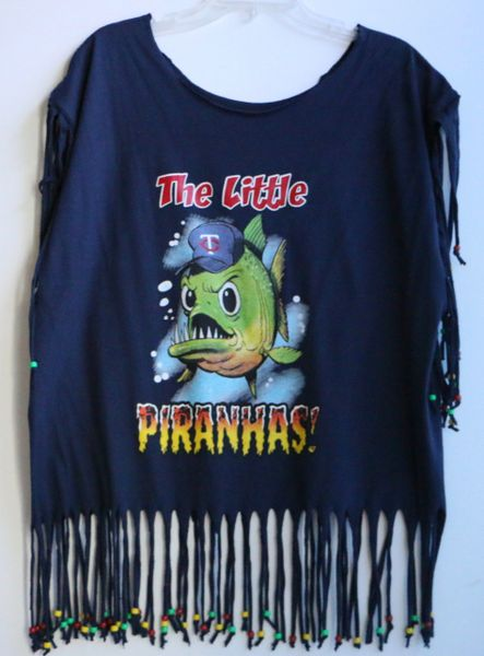 H2BN Ancient Ones Fringe The Little PIRANHAS! Beaded T-Shirt