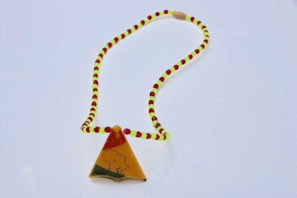 H2BN Mother Land Pyramid Pendant Beaded Necklace From Buganda Now Known As Uganda 2day