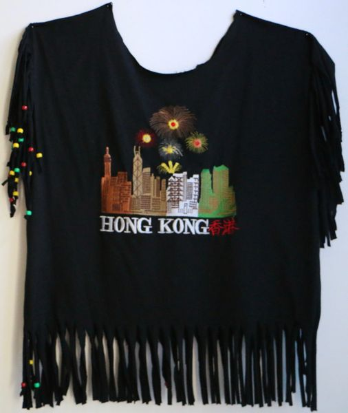 H2BN Ancient Ones Fringe Hong Kong Beaded T-Shirt
